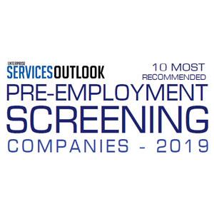 Top 10 Pre Employment Screening Companies - 2019